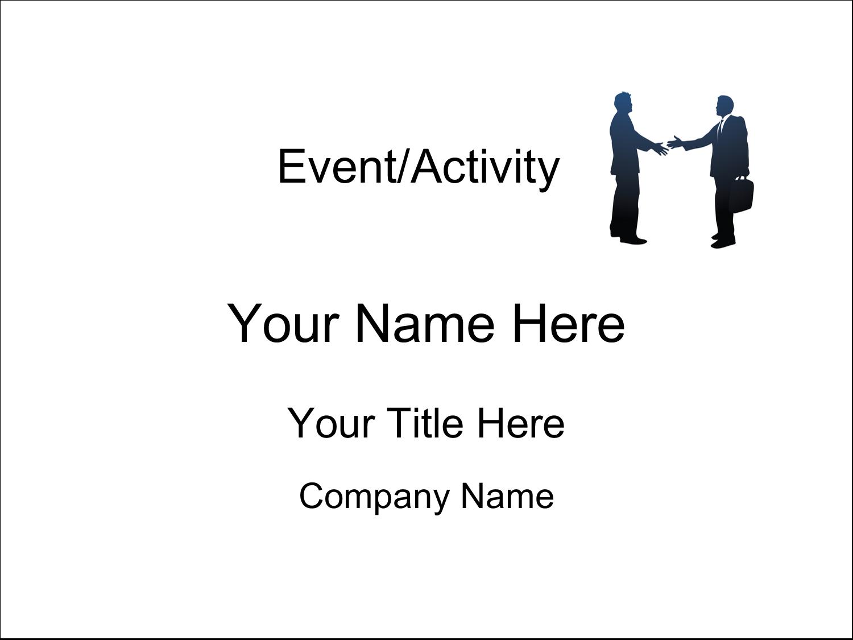 """4"""" x 3"""" Name Tags - Business Handshake"""