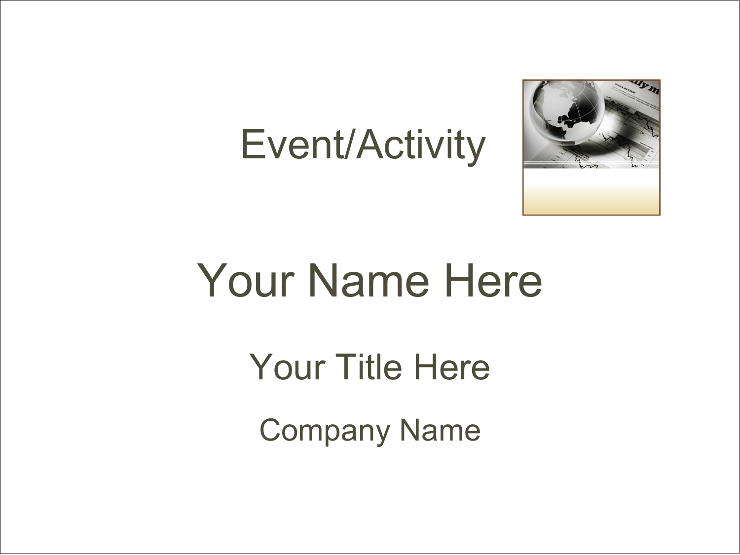 """4"""" x 3"""" Name Tags - Finance Report"""