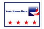 Showcase your love for your country with these customizable Patriotic Star templates.