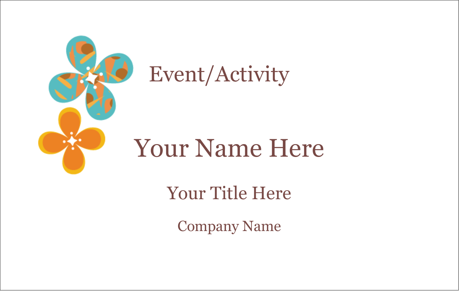 """2¼"""" x 3½"""" Name Tags - Floral Pattern"""