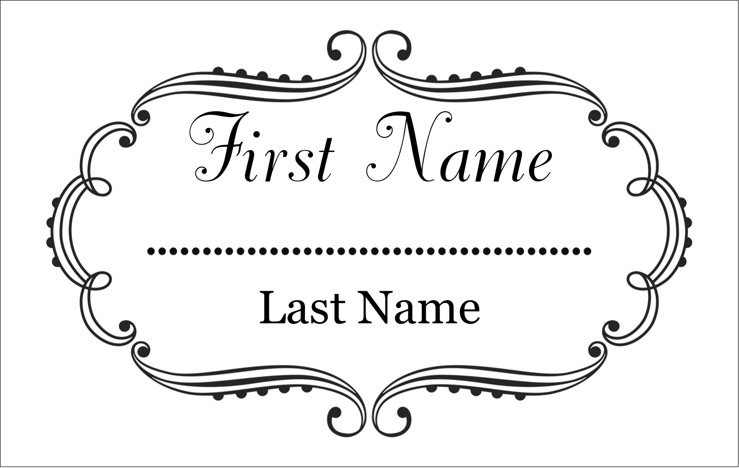 "2¼"" x 3½"" Name Tags - Martha Stewart's Whimsical Wedding"
