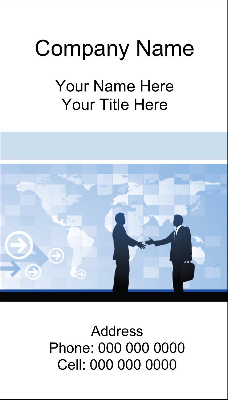 "2"" x 3½"" Business Card - Business Handshake"