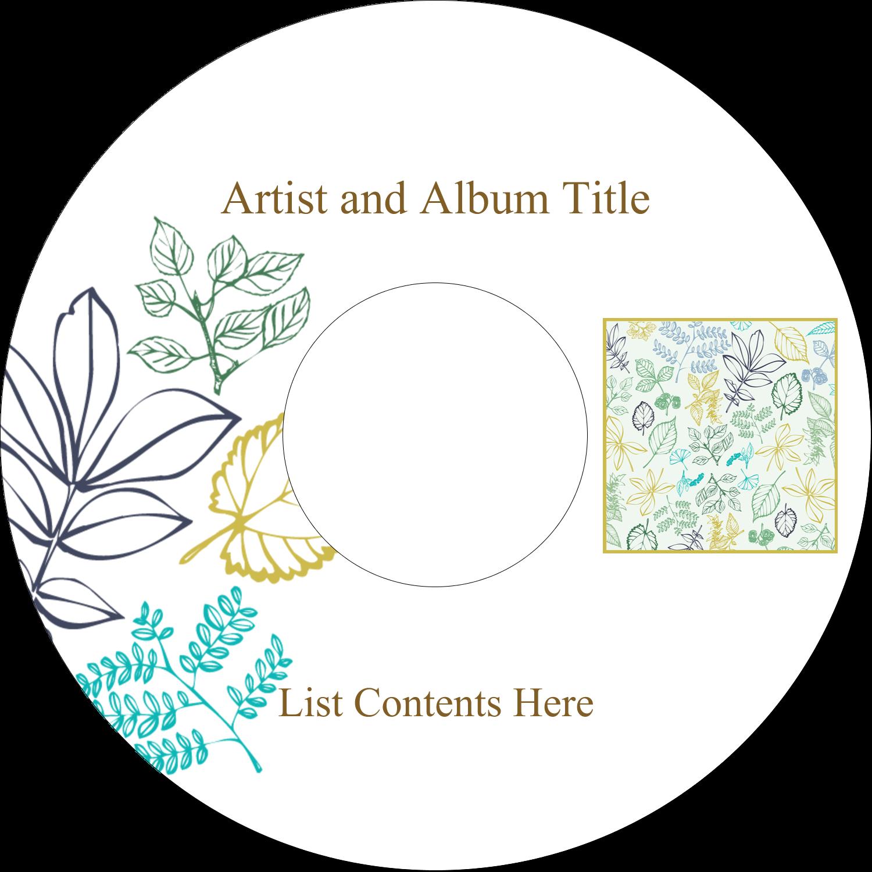 CD-DVD Label - Pastel Foliage