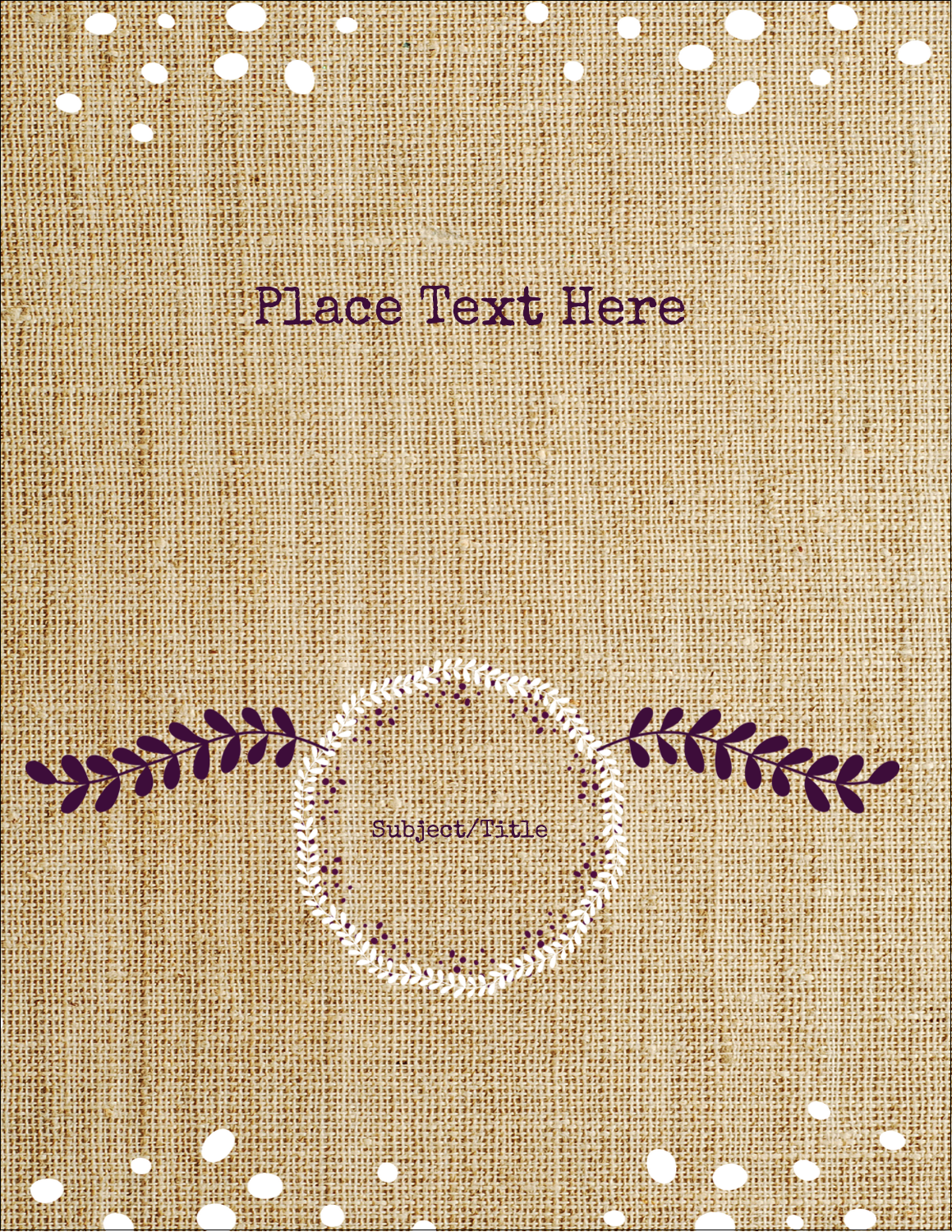 Get rustic yet elegant at your next event with the Fringed Burlap pre-design template.