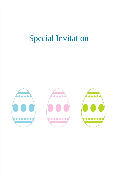 "5"" x 8½"" Half Fold Card - Easter Egg Trio"