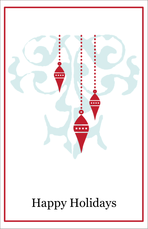 "5"" x 8½"" Half Fold Card - Elegant Christmas"