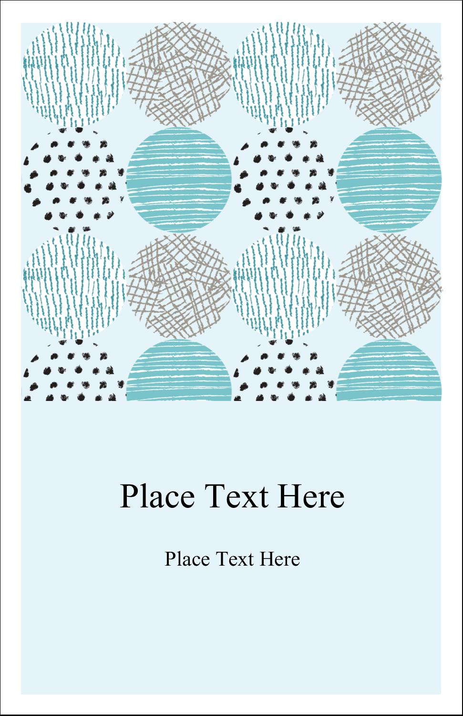 "5"" x 8½"" Half Fold Card - Urban Circles Blue"