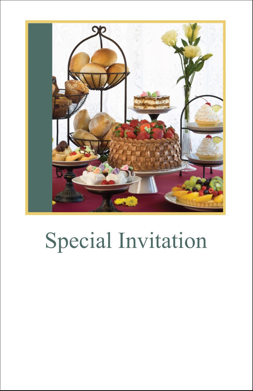 "5"" x 8½"" Half Fold Card - Desserts and Breads"