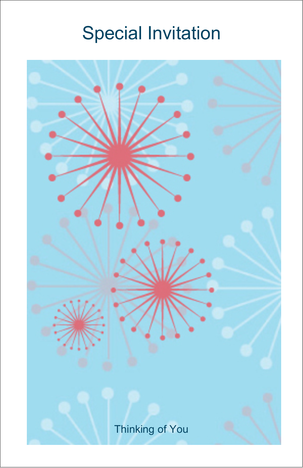 "5"" x 8½"" Half Fold Card - Simple Celebration"