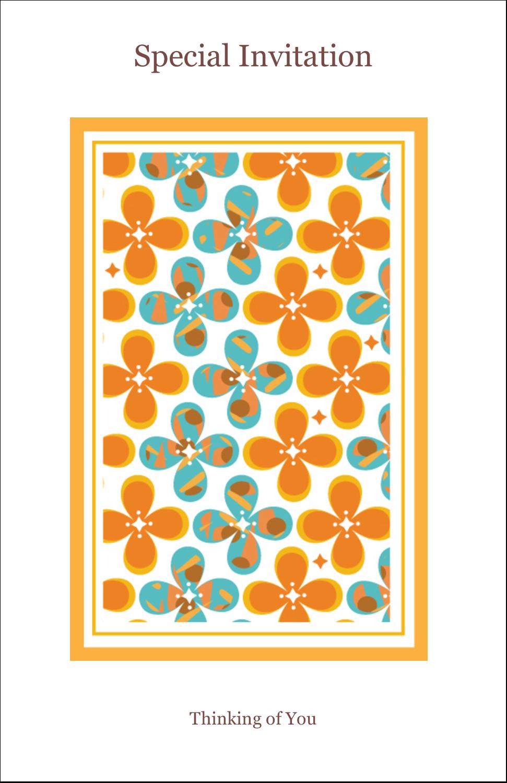 "5"" x 8½"" Half Fold Card - Floral Pattern"