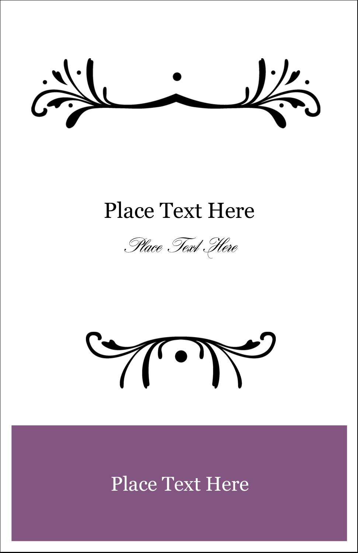"""5"""" x 8½"""" Half Fold Card - Filigree Purple"""