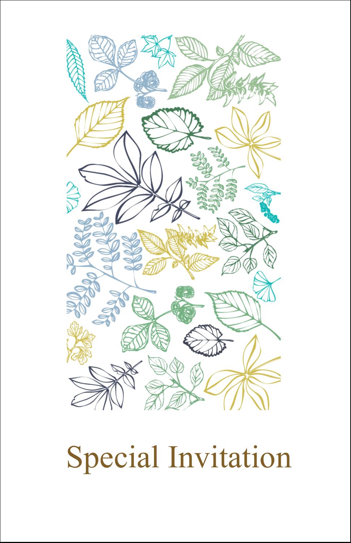"5"" x 8½"" Half Fold Card - Pastel Foliage"
