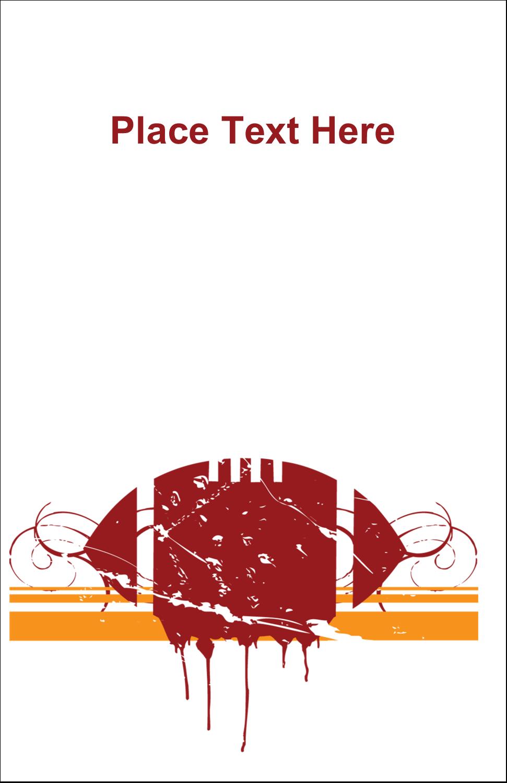"5"" x 8½"" Half Fold Card - Football Grunge"