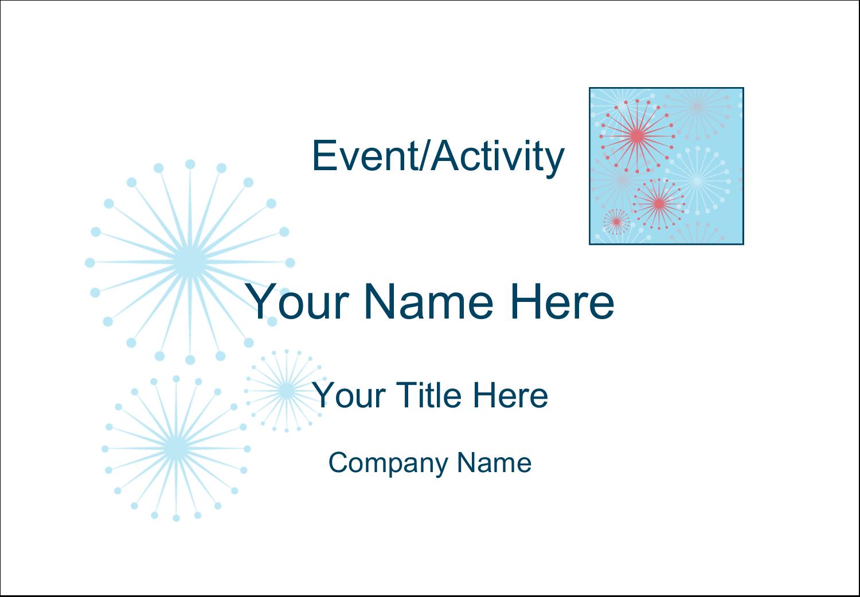 "2-11/12"" x 3⅜"" Name Badge Label - Simple Celebration"