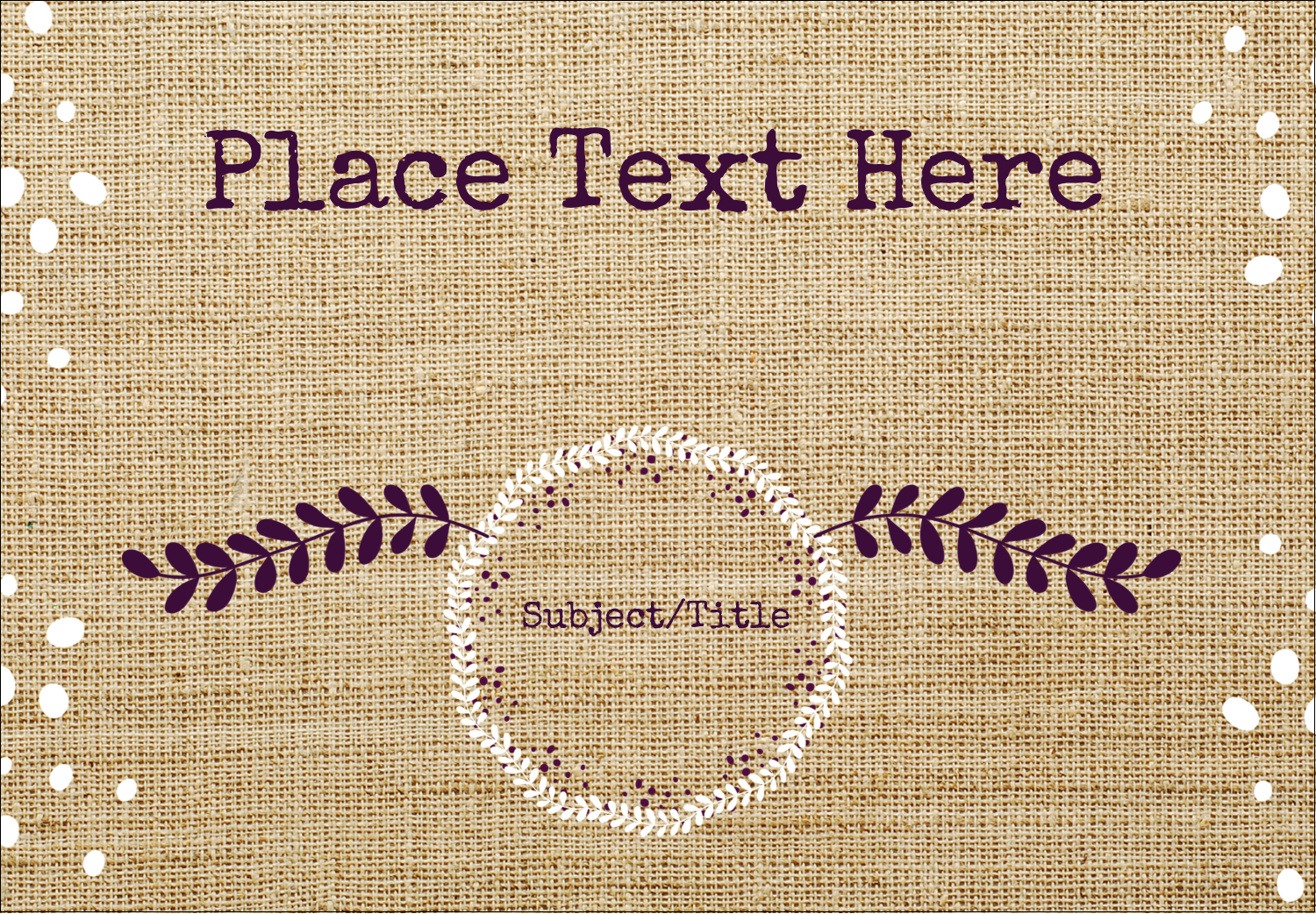 "2-11/12"" x 3⅜"" Name Badge Label - Fringed Burlap"