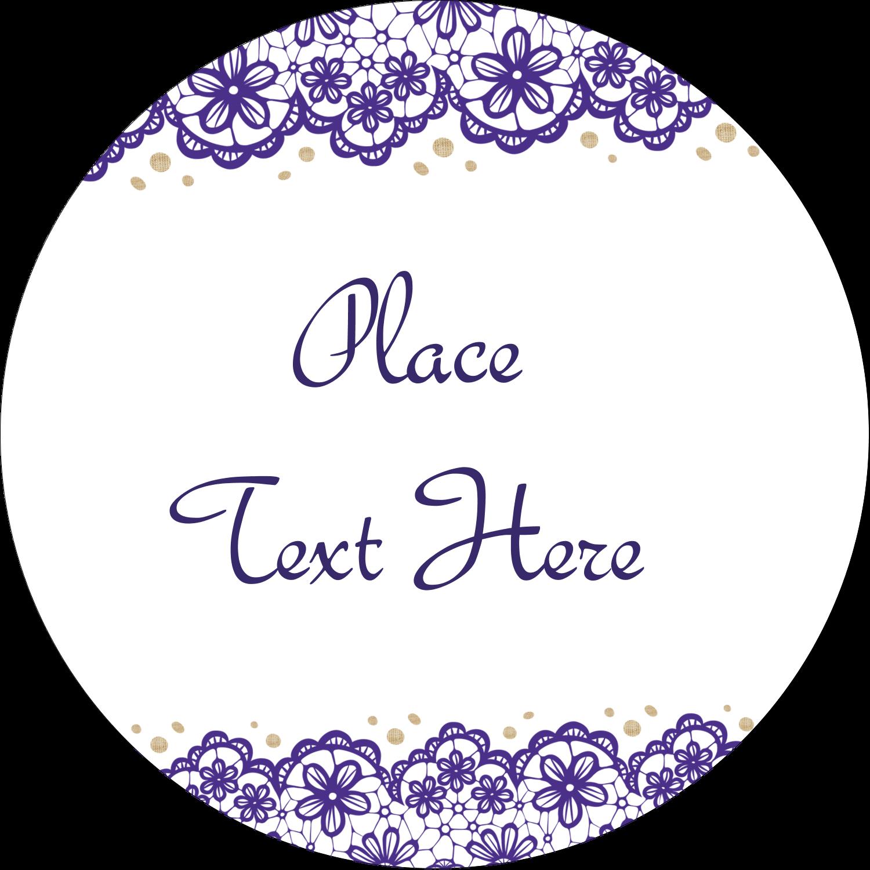 "1"" Legal Seals - Purple Lace Wedding"