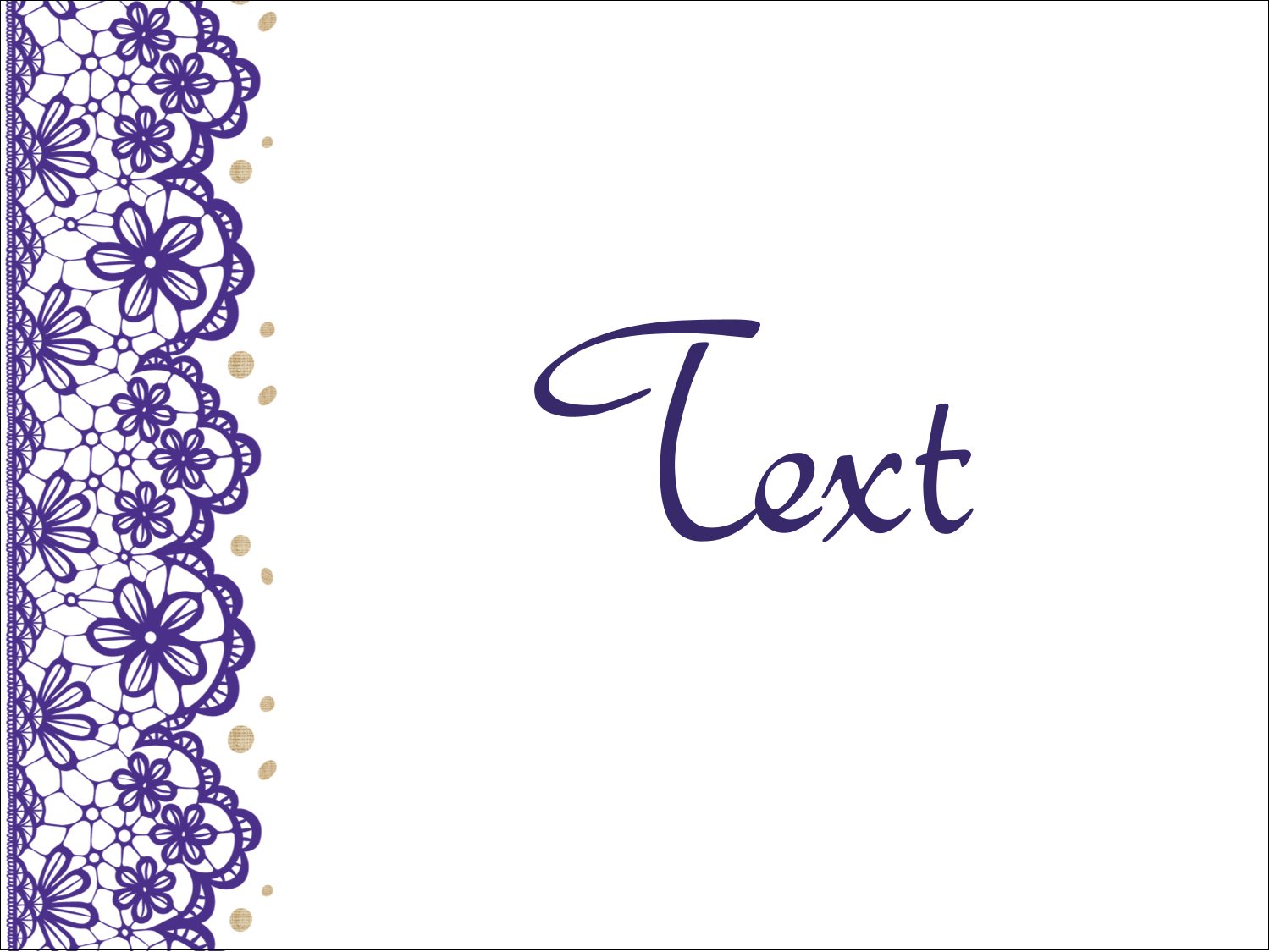 x  Multi-Purpose Labels - Purple Lace Wedding