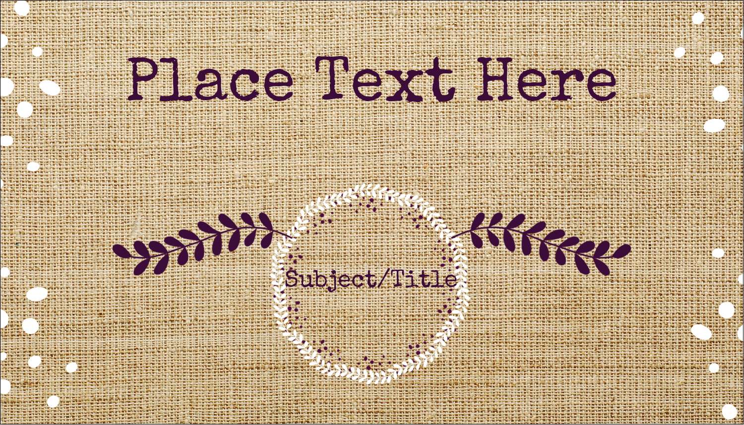 x  Multi-Purpose Labels - Fringed Burlap
