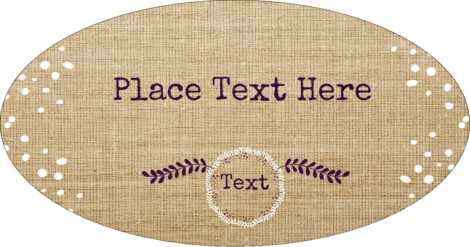 """8½"""" x 11"""" Insertable Dividers - Fringed Burlap"""