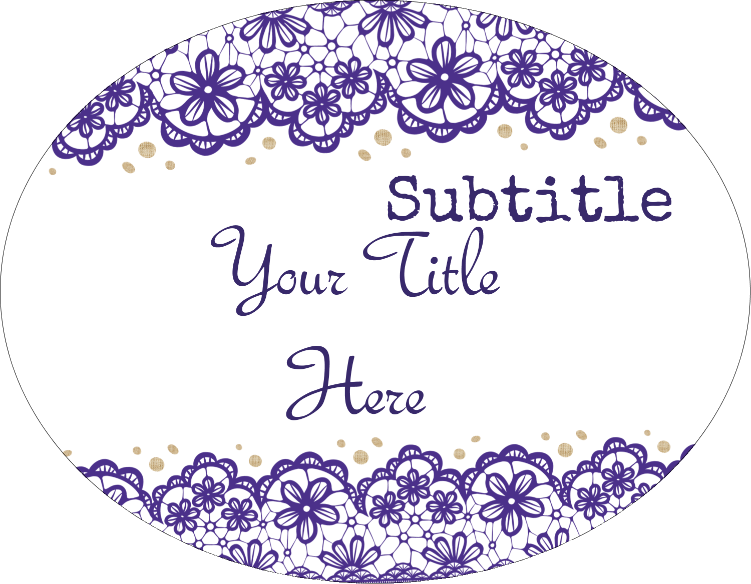 """8½"""" x 11"""" Insertable Dividers - Purple Lace Wedding"""