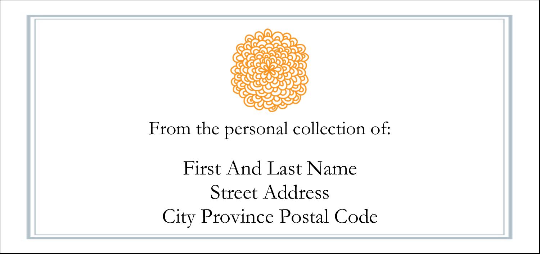 "4¼"" x 2"" Mailing Label - Bookplate Generic"