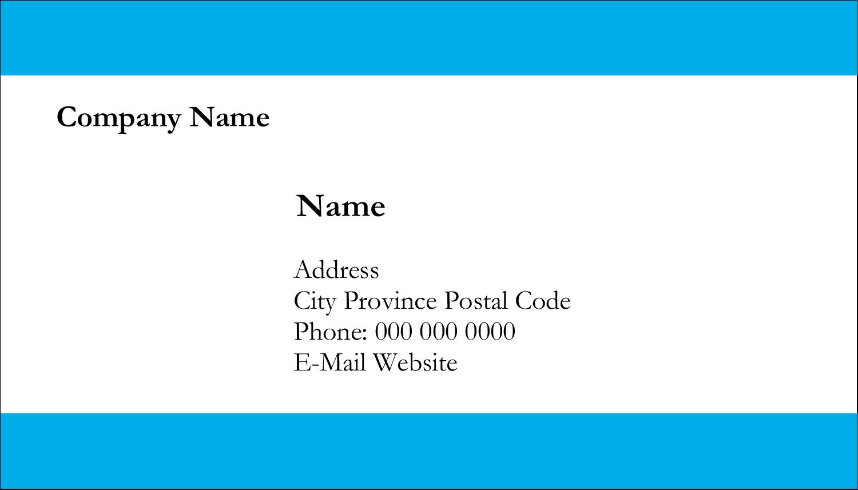 """2"""" x 3½"""" Business Card - Blue Bar"""