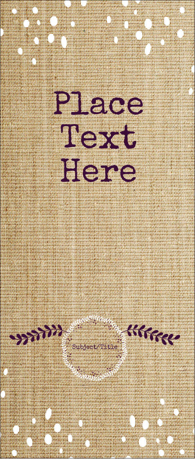 "1¾"" x 5½"" Printable Tickets - Fringed Burlap"