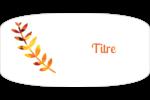 Feuilles mortes Intercalaires / Onglets - gabarit prédéfini. <br/>Utilisez notre logiciel Avery Design & Print Online pour personnaliser facilement la conception.
