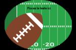 Terrain de football  Étiquettes ovales - gabarit prédéfini. <br/>Utilisez notre logiciel Avery Design & Print Online pour personnaliser facilement la conception.