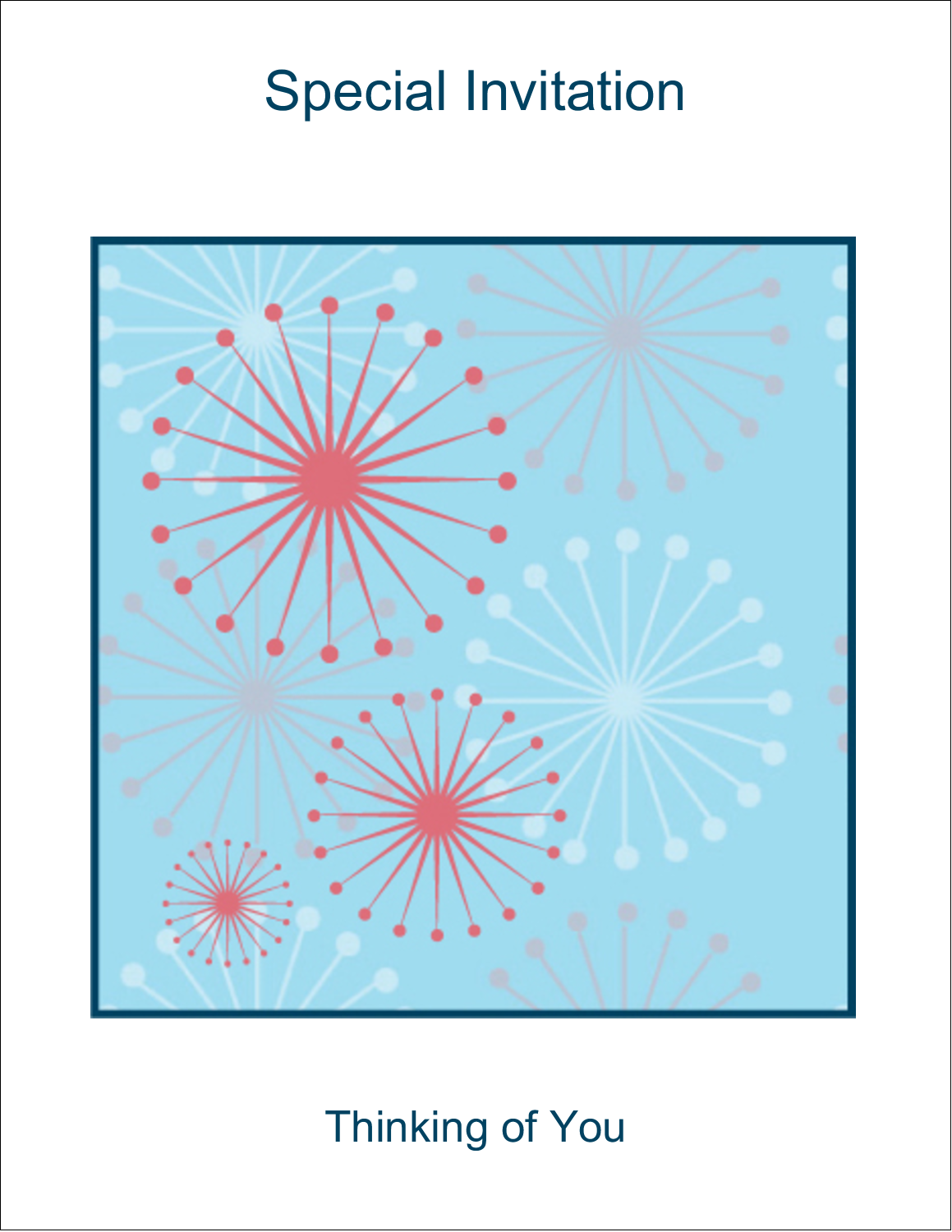 "4¼"" x 5½"" Note Card - Simple Celebration"