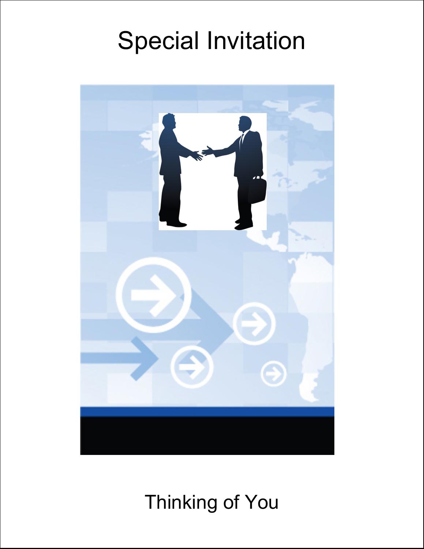 "4¼"" x 5½"" Note Card - Business Handshake"