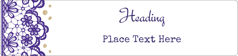 "8½"" x 11"" Content Dividers - Purple Lace Wedding"