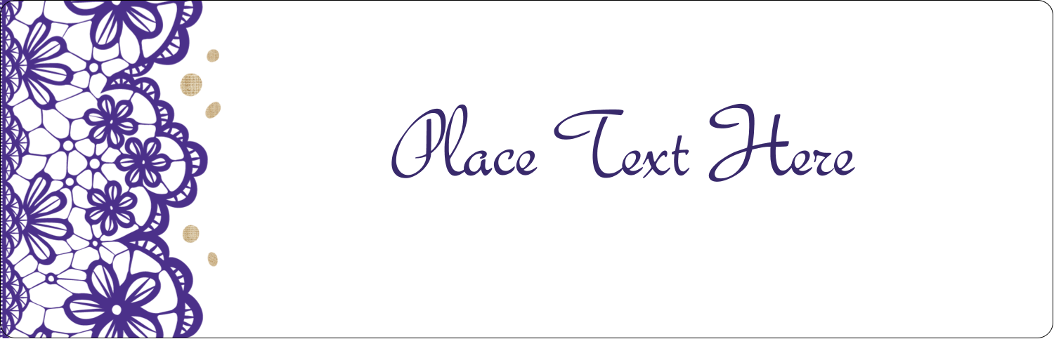 "8½"" x 11"" Content Dividers - Purple Lace Wedding"