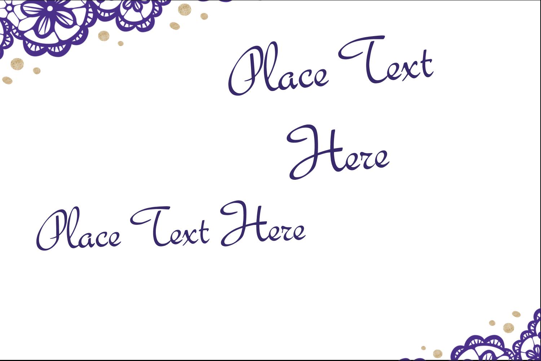 x  Multi-Purpose Labels - Purple Lace Wedding