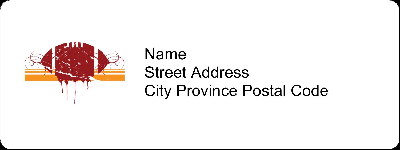 "⅔"" x 1¾"" Address Label - Football Grunge"