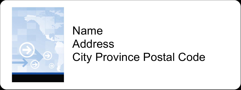 "⅔"" x 1¾"" Address Label - Business Handshake"
