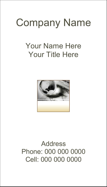 "2"" x 3½"" Business Card - Finance Report"