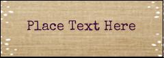 "2-13/16"" x 1"" Mailing Label - Fringed Burlap"