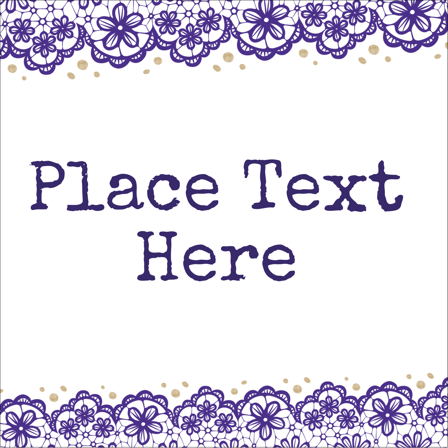 "1½"" x 1½"" ID Label - Purple Lace Wedding"