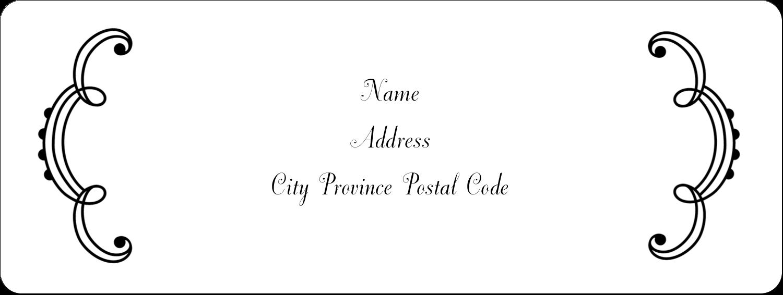 "⅔"" x 1¾"" Address Label - Martha Stewart's Whimsical Wedding"