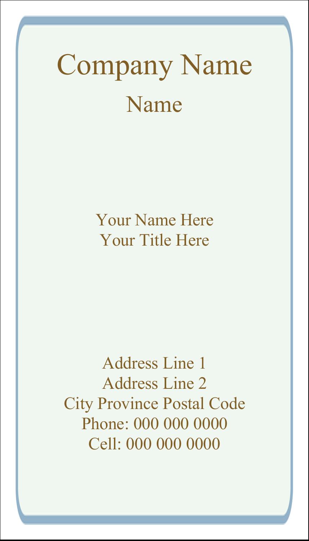 "2"" x 3½"" Business Card - Pastel Foliage"