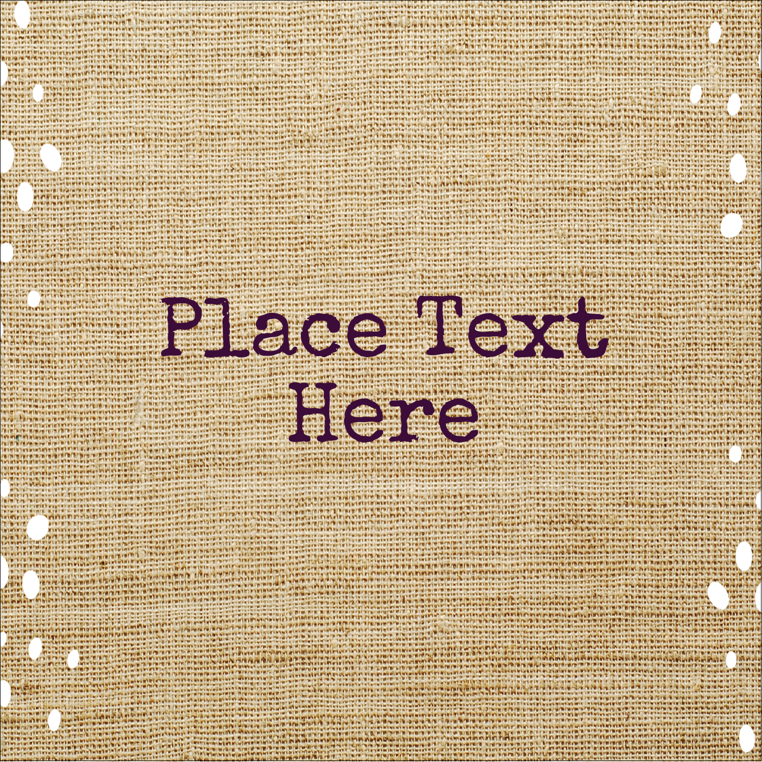 "1½"" x 1½"" ID Label - Fringed Burlap"