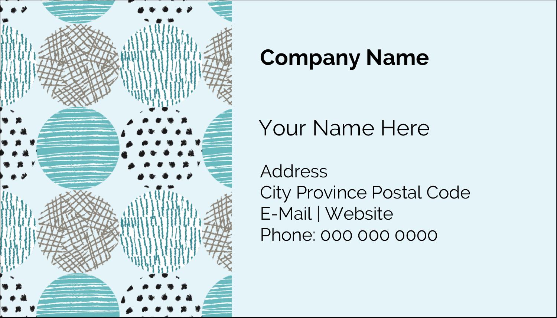 """2"""" x 3½"""" Business Card - Urban Circles Blue"""