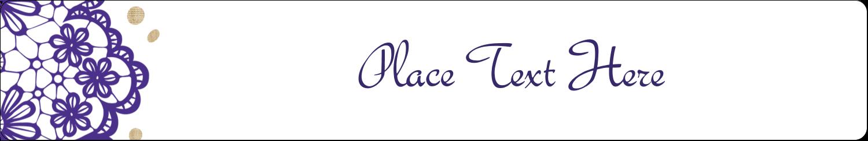 "9/16"" x 3-7/16"" Label Makers - Purple Lace Wedding"
