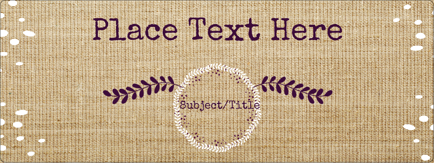 "1½"" x 4"" Address Label - Fringed Burlap"