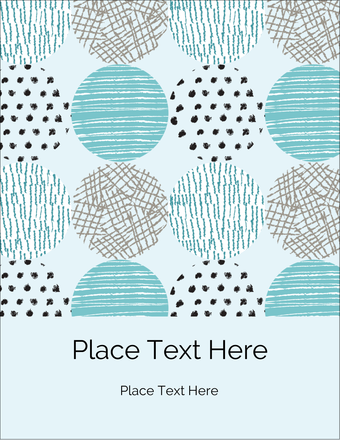 "5½"" x 4¼"" Postcard - Urban Circles Blue"