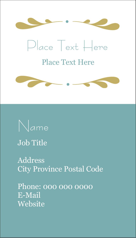 """3½"""" x 2"""" Business Card - Filigree"""