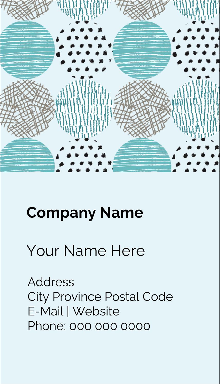 """3½"""" x 2"""" Business Card - Urban Circles Blue"""