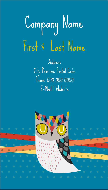 "3½"" x 2"" Business Card - Artful Owl"