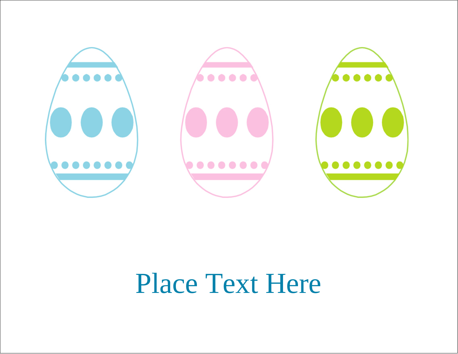 "5½"" x 4¼"" Postcard - Easter Egg Trio"